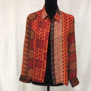 Sans Souci mutli colored blouse